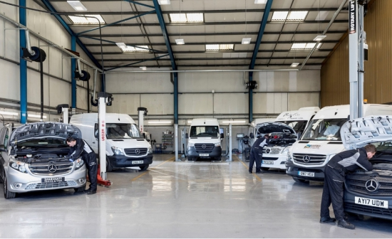 Mercedes-Benz Dealer Sparshatt launches dedicated van service centre