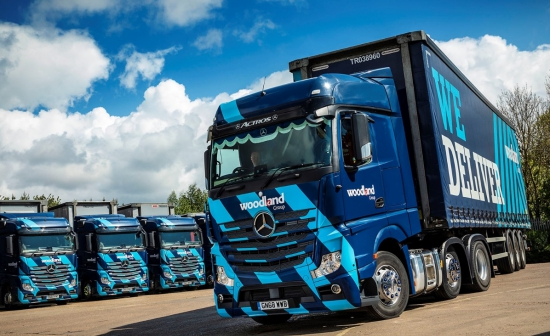 Woodland trusts its 138 Mercedes-Benz trucks to deliver on reliability, economy and safety