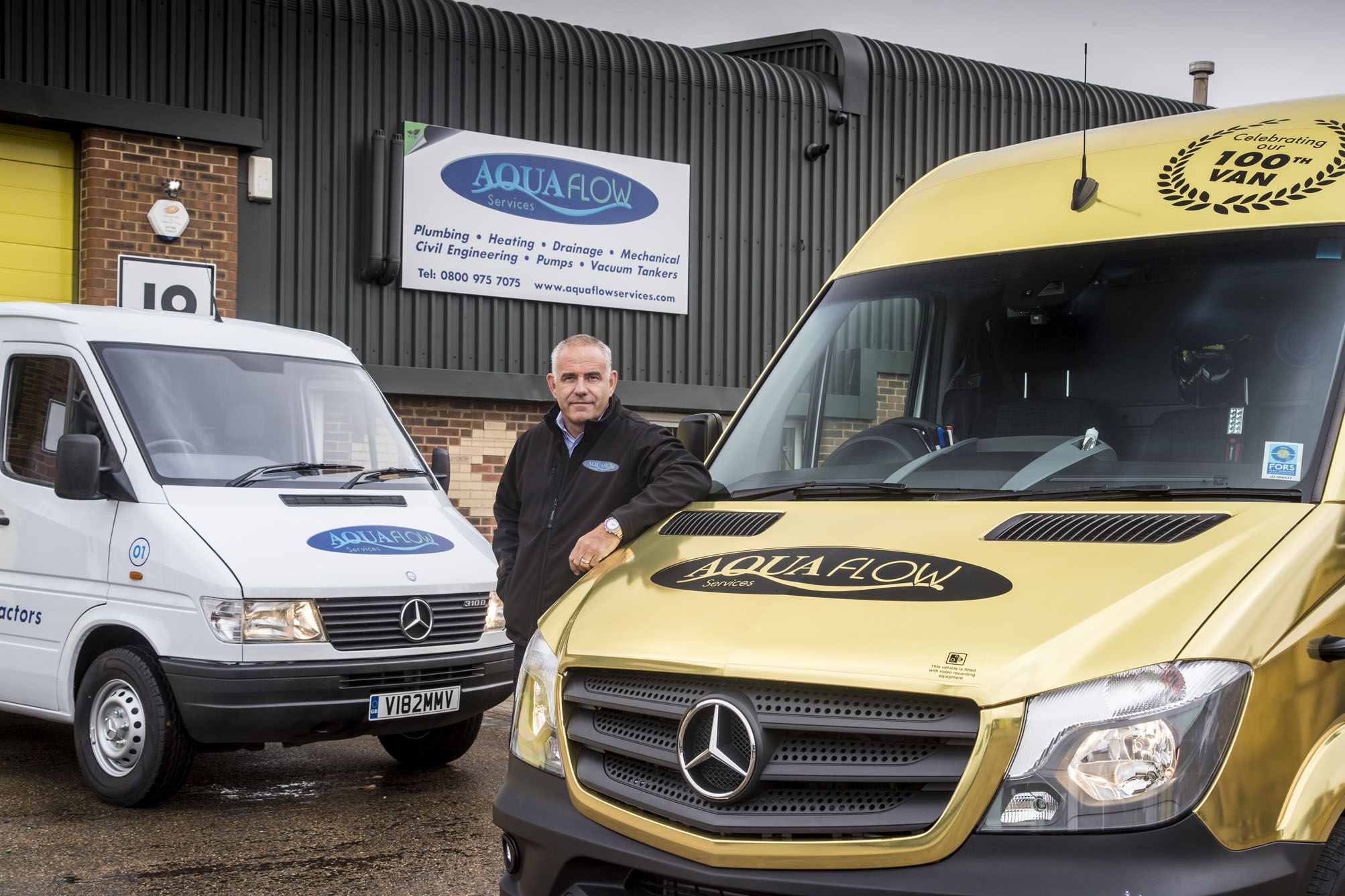 Aquaflow 'goes for gold' with Mercedes-Benz Sprinter